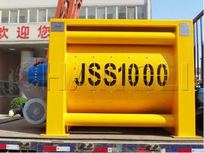 JSS1000 twin shaft concrete mixer