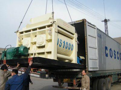 concrete mixer exported to India