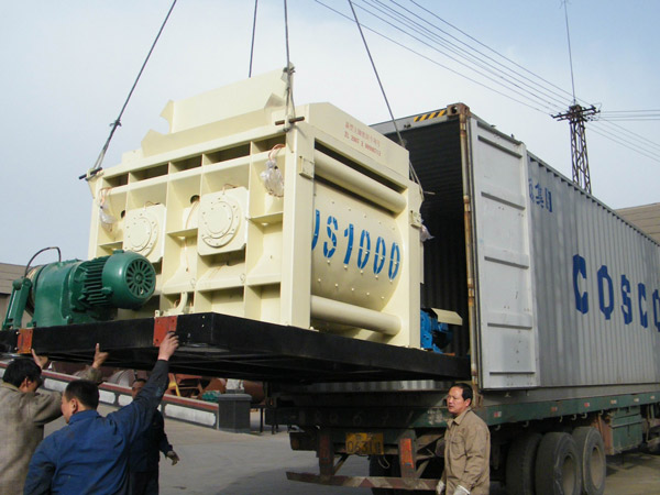 concrete mixer exported to India