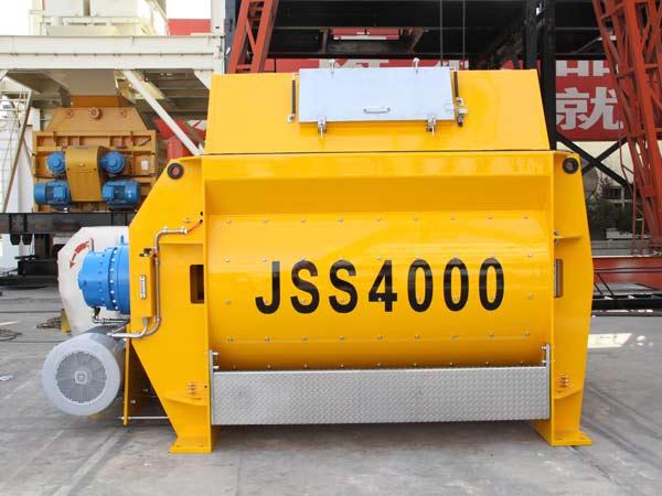 JSS4000 twin shaft concrete mixer