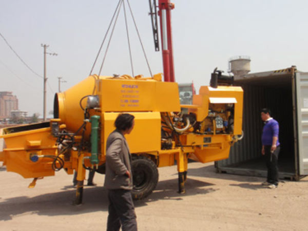 Best Concrete Mixer Pump Exported to Guinea
