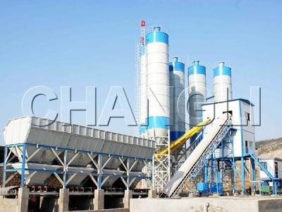 Best HZS120 Stationary Concrete Batching Plant