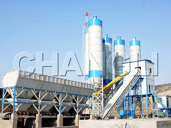 Best HZS120 Stationary Concrete Batching Plant