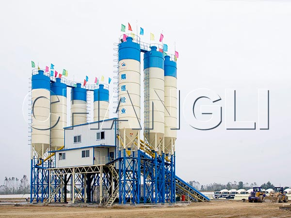 Best HZS180 Stationary Concrete Batching Plant