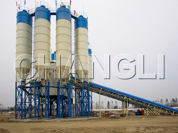 Best HZS240 Stationary Concrete Batching Plant
