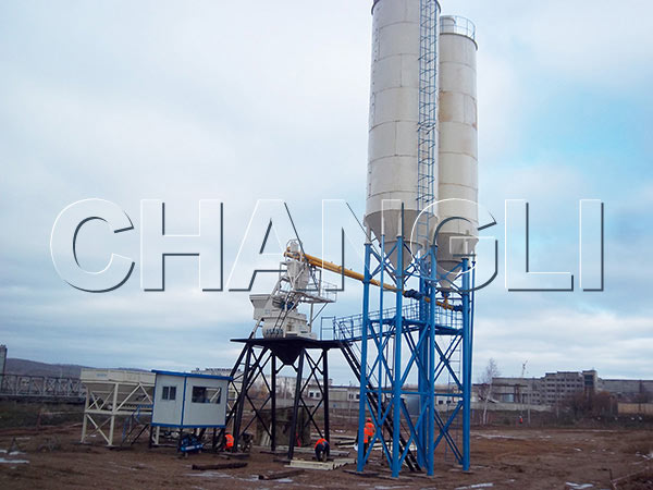 Best HZS25 Stationary Concrete Batching Plant