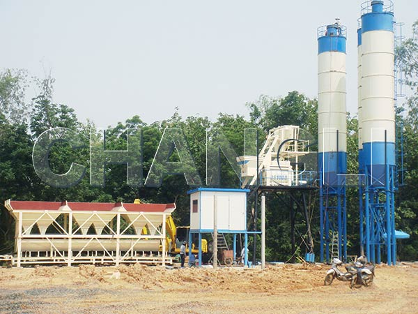 Best HZS50 Stationary Concrete Batching Plant