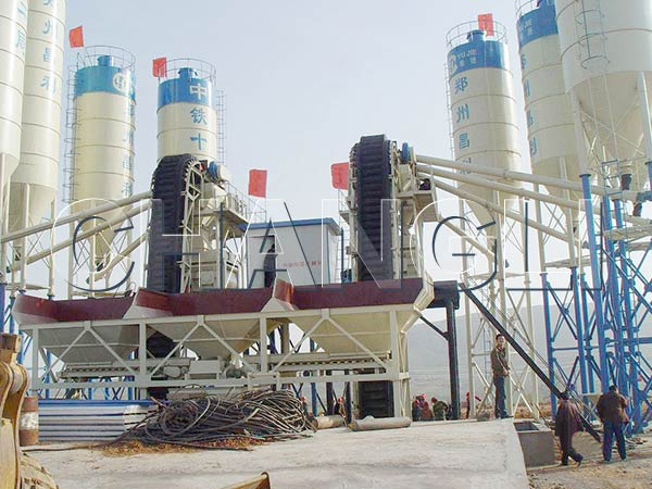 Best HZS60 Stationary Concrete Batching Plant