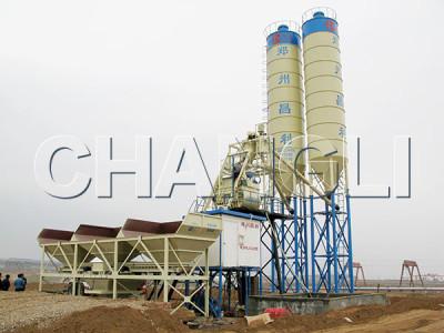 Best HZS75 Stationary Concrete Batching Plant