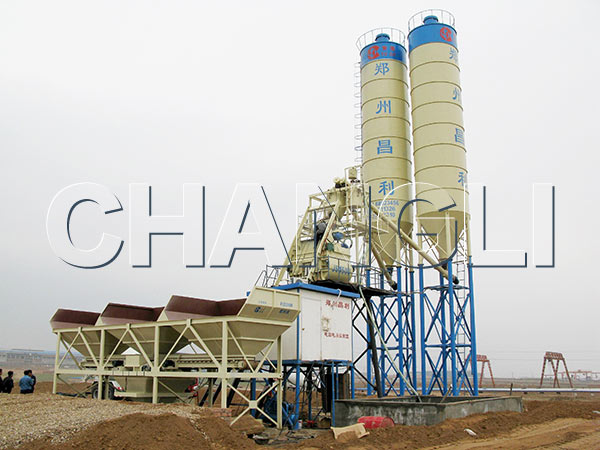 Best HZS75 Stationary Concrete Batching Plant