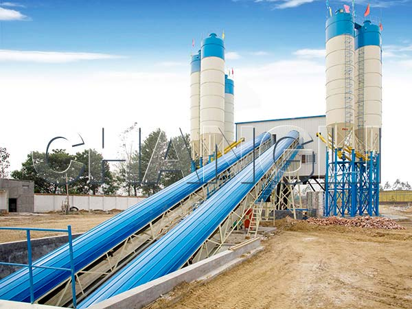 Best HZS90 Stationary Concrete Batching Plant
