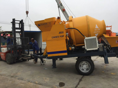 Best JBS30 Concrete Mixer Pump Delivered to Russia