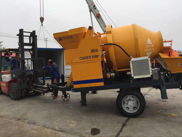 Best JBS30 Concrete Mixer Pump Delivered to Russia