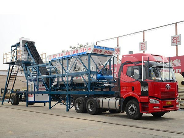 Best YHZS35 Mobile Concrete Batching Plant