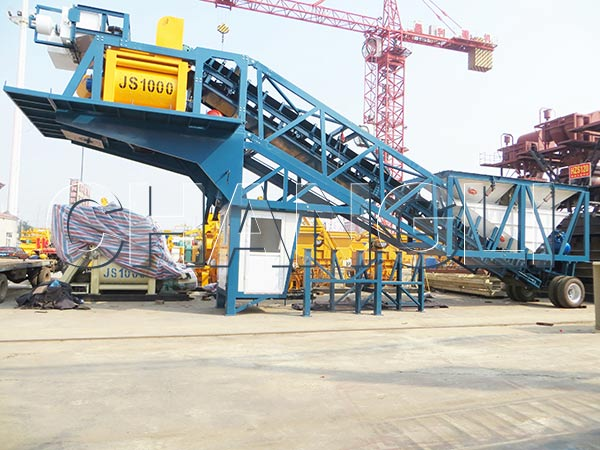 Best YHZS50 Mobile Concrete Batching Plant