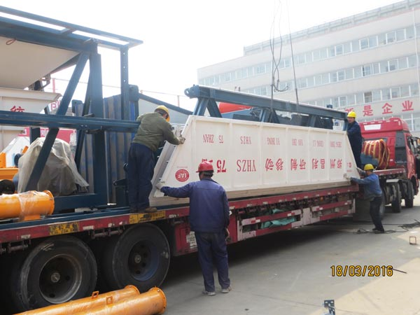 YHZS75 concrete batching plant for exporting