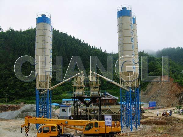 2HZS35 concrete batching plant