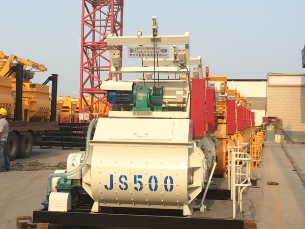 JS500 Compulsory Concrete Mixer