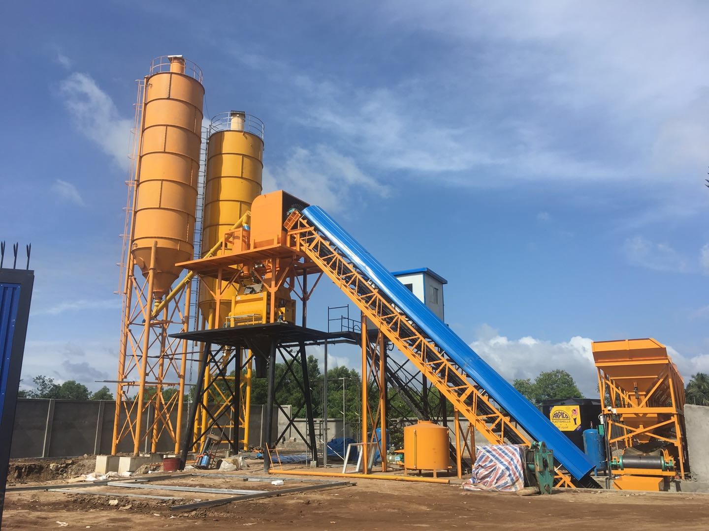 Aj 60 Concrete Batching Plant Of Aimix Group Was Installed