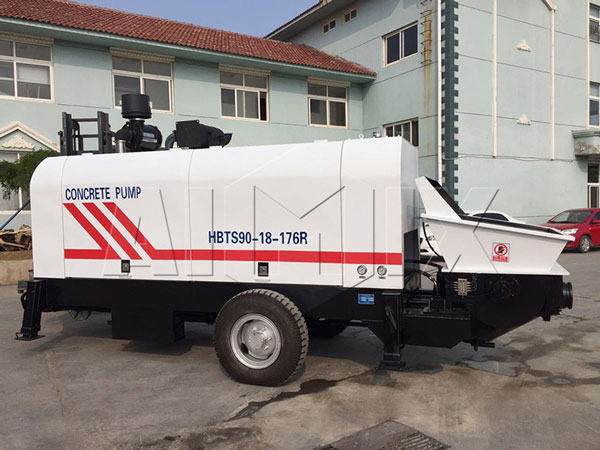 diesel concrete mixer with pump for sale
