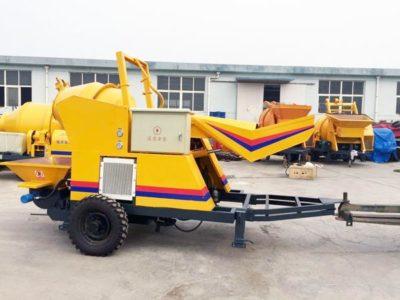 concrete mixer with pump machine
