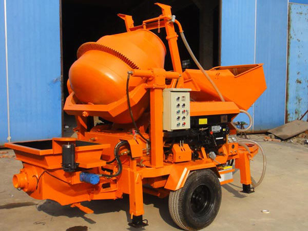 JBS40-JZC350 concrete mixer machine with pump