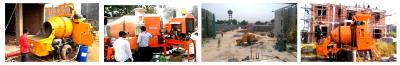 concrete mixer pump site