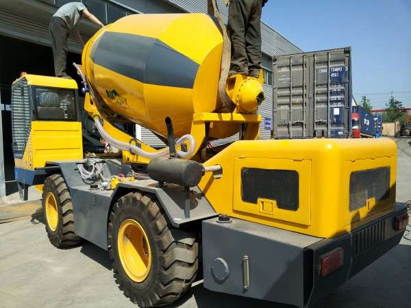 self loading concrete mixer truck