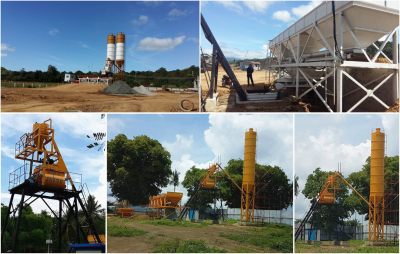 HZS35 concrete bactching plant in Manila