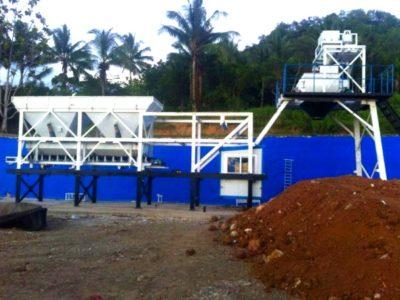YHZ25 mobile concrete batching plant