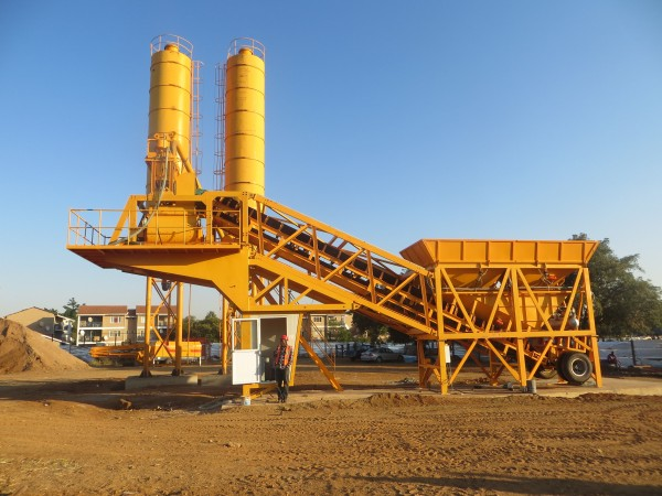 AJY-35 mobile concrete batching plant for sale