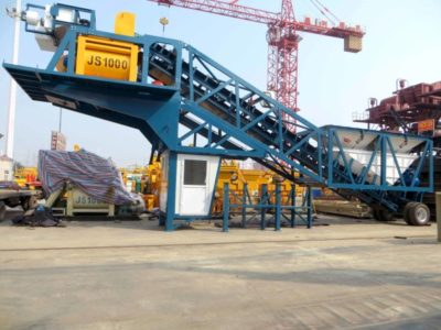 YHZ50 mobile batching plant