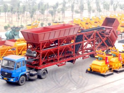 YHZ75 mobile concrete mixer plant