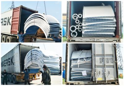 100t cement silo exported