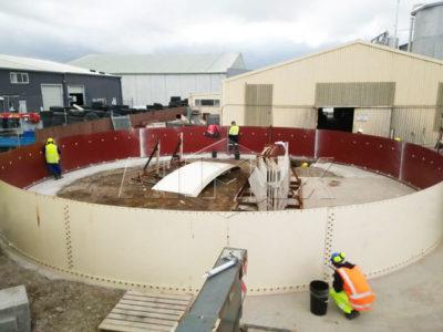 installation of cement silo