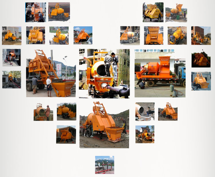 concrete mixer pump working sites picturers