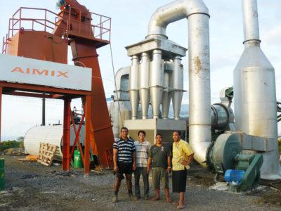 DHB80 asphalt mixing plant in Philippines
