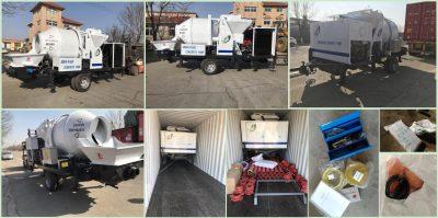 JBS40 diesel concrete mixer pump loading photos to Ecuador