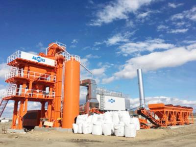 LB1000 asphalt mixing plant in Russia